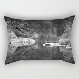 Shoreline Reflection On the Water Rectangular Pillow