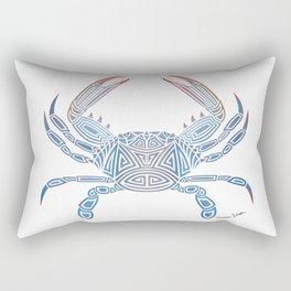 Tribal Blue Crab Rectangular Pillow
