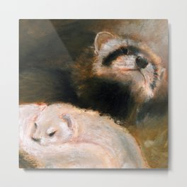 Ferret Mommy Metal Print