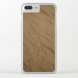 tulle, brown Clear iPhone Case