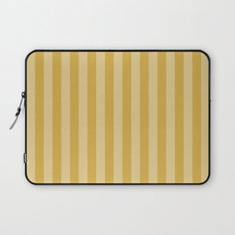 Large Two Tone Spicy Mustard Yellow Cabana Tent Stripe Laptop Sleeve