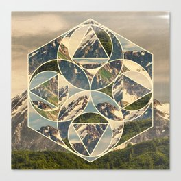 Geometric mountains 1 Canvas Print