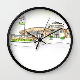 Trinity High School Watercolor Louisville, KY Wall Clock