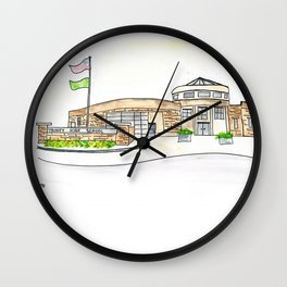 Trinity High School Watercolor Louisville, KY Wall Clock