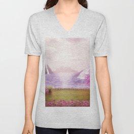 Fantasy landscape Unisex V-Neck