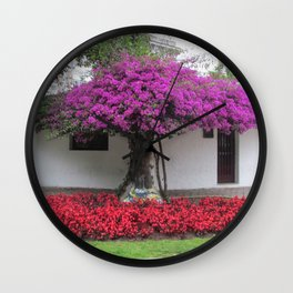 The Woman in the Tree Wall Clock