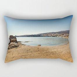 Neiborio beach near Chora in Andros island, Greece Rectangular Pillow