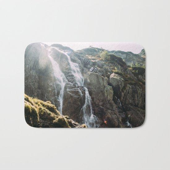Waterfall In Sunlight Bath Mat