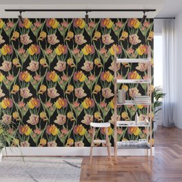 Tulips 2 | Vintage Floral Pattern | Flower Patterns | Wall Mural