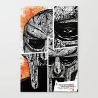 mf doom Canvas Prints featuring MF Doom by Crooked Octopus