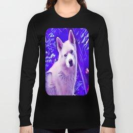 Isabella White Siberian Husky Long Sleeve T-shirt