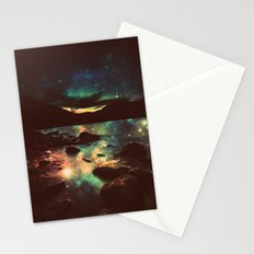 Dark Magical Mountain Lake Stationery Cards