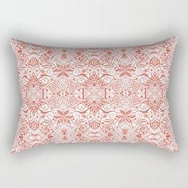 Greek Baroque, Bohemian Arabesque Pattern, Burnt Sienna Terracotta Rectangular Pillow