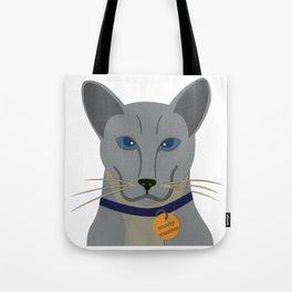 Cheeky Siamese Cat Tote Bag
