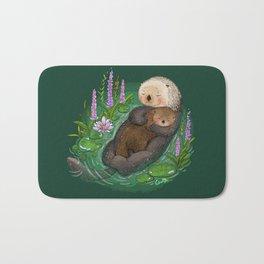 Sea Otter Mother & Baby Bath Mat