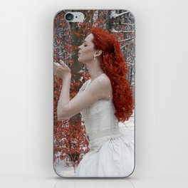 Lady Winter iPhone Skin