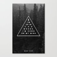 bon iver Canvas Prints featuring Woods -- Bon Iver by Zeke Tucker
