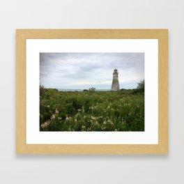 Confederation Bridge and Lighthouse Framed Art Print
