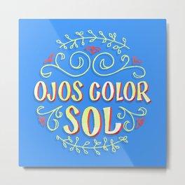 Ojos Color Sol Metal Print