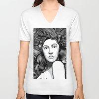 artrave V-neck T-shirts featuring artRAVE ARTPOP by Alli Vanes