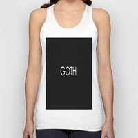 goth Tank Tops featuring Goth by TayRavenna