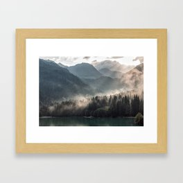 Misty Mountains Framed Art Print