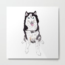 Bowser the Husky Metal Print