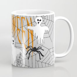 Ghost Halloween Spider Coffee Mug