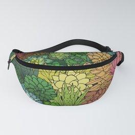 Succulent Garden Rainbow Fanny Pack