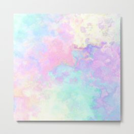 Runny colors Metal Print