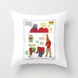 Natural Demographic #4 Throw Pillow