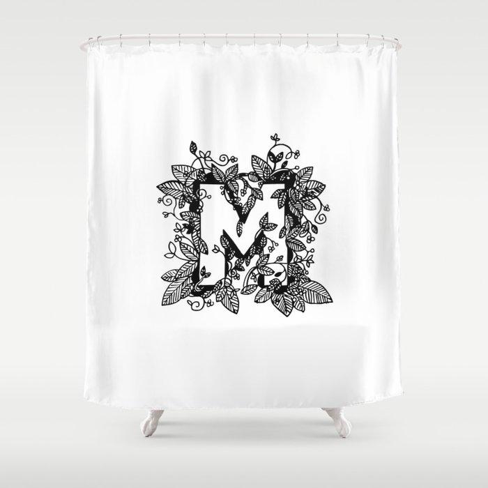 Leafy M Shower Curtain