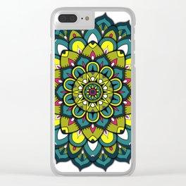Emerald Mandala Clear iPhone Case