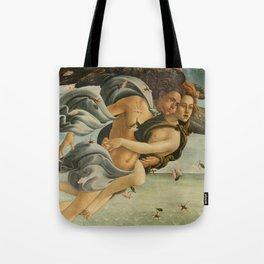 "Sandro Botticelli ""The Birth of Venus"" 3. Zephyr and his companion Tote Bag"