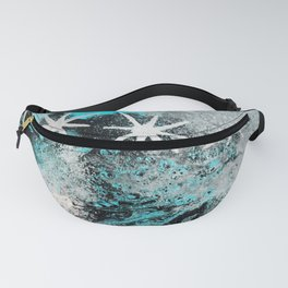 Gray Stars Galaxy Space Blue Turquoise Fanny Pack