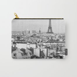 Paris Rooftops and the Eiffel Tower Carry-All Pouch