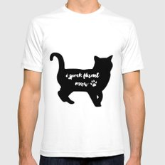 Fluent Meow SMALL Mens Fitted Tee White