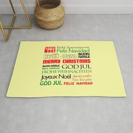 merry christmas in different languages I Rug