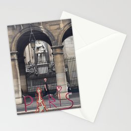 Walking in Paris Stationery Cards