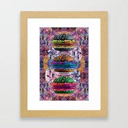 black burger doom zone Framed Art Print