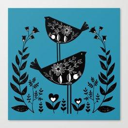 Danish Birds Bring Good Luck And A Good Life Canvas Print