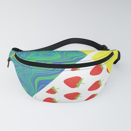 Ready strawberry play tennis graphic Fanny Pack