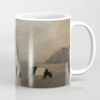 cows Mugs featuring Cows by Claire Whitehead