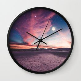 Moon gazing Wall Clock