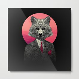 VIF - Very Important Fox Metal Print