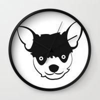 chihuahua Wall Clocks featuring Chihuahua by anabelledubois