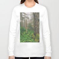 forrest Long Sleeve T-shirts featuring Foggy Forrest by Donovan Bennett Designs