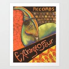 Exchangeosaur Art Print