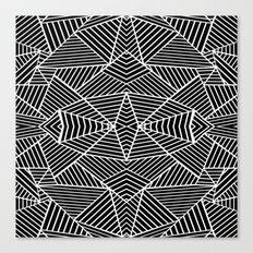 Ab Zoom Mirror Black Canvas Print