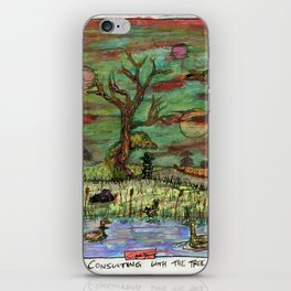 Consulting With The Tree iPhone Skin